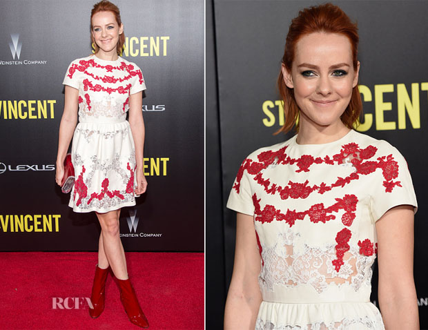 Jena Malone In Valentino - 'St Vincent' New York Premiere
