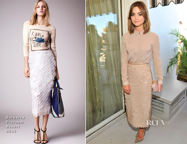Jenna Coleman In Burberry Prorsum - BAFTA Los Angeles and the Britannia Awards