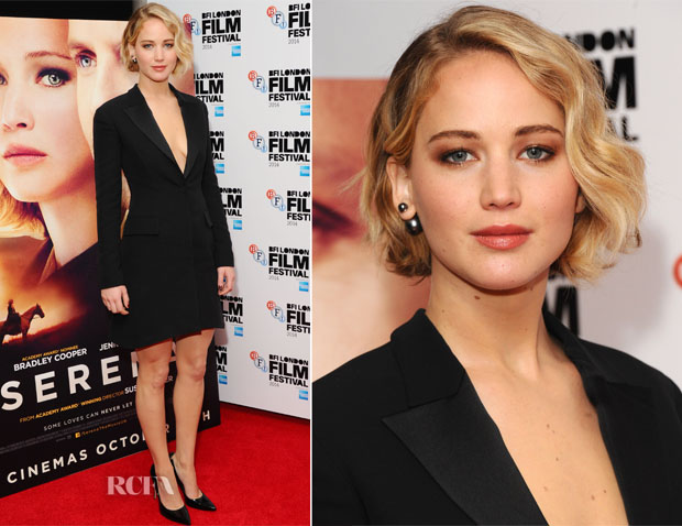 Jennifer Lawrence In Christian Dior - 'Serena' London Film Festival Screening