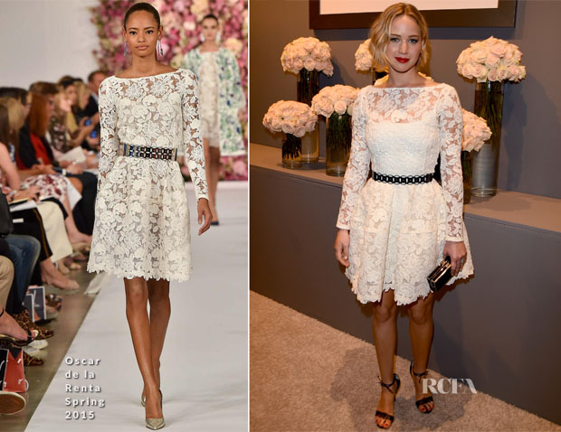 Jennifer Lawrence In Oscar de la Renta - Elle's 21st Annual Women In Hollywood Celebration