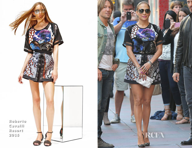 Jennifer Lopez In Roberto Cavalli - 'American Idol' 'Hollywood Week' Auditions
