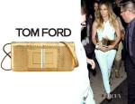 Jennifer Lopez' Tom Ford 'Natalia East-West' Python Bag