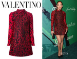 Jennifer Lopez' Valentino Leopard Print Shirt Dress
