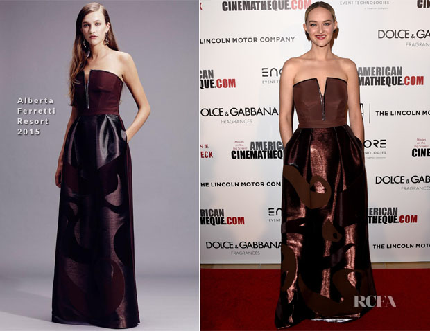 Jess Weixler In Alberta Ferretti - American Cinematheque 28th Annual Award Presentation To Matthew McConaughey
