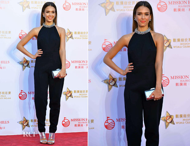Jessica Alba In Emilio Pucci - Mission Hills World Celebrity Pro-Am Opening Ceremony