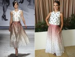 Jessica Alba In Lela Rose - SELF Luncheon