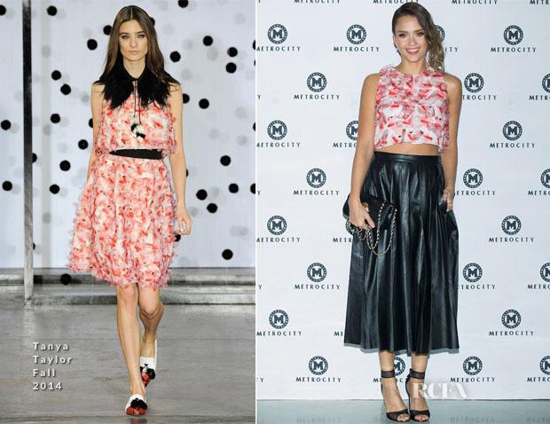Jessica Alba In Tanya Taylor - Seoul Fashion Week Metrocity 2015 Spring Summer Show