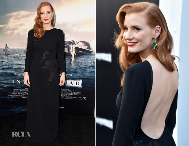 Jessica Chastain In Givenchy Couture - 'Interstellar' LA Premiere