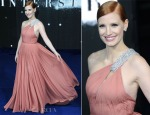 Jessica Chastain In Saint Laurent - 'Interstellar' London Premiere