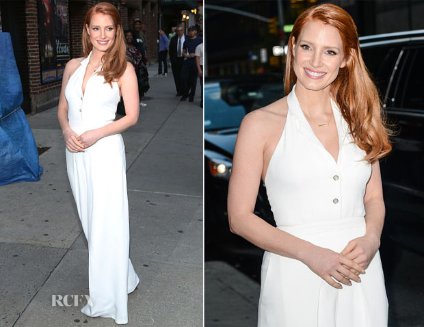 Jessica Chastain In Temperley London - Late Show with David Letterman