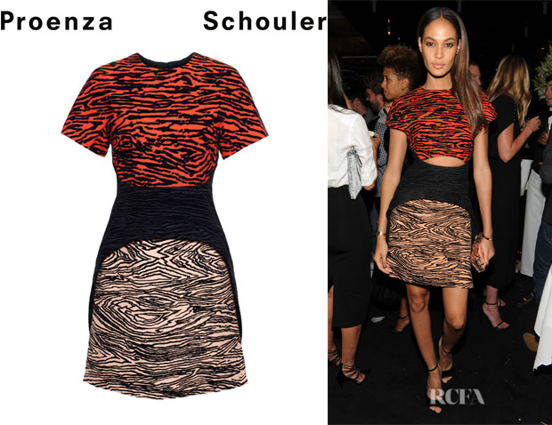 Joan Smalls' Proenza Schouler Structured Jacquard Dress
