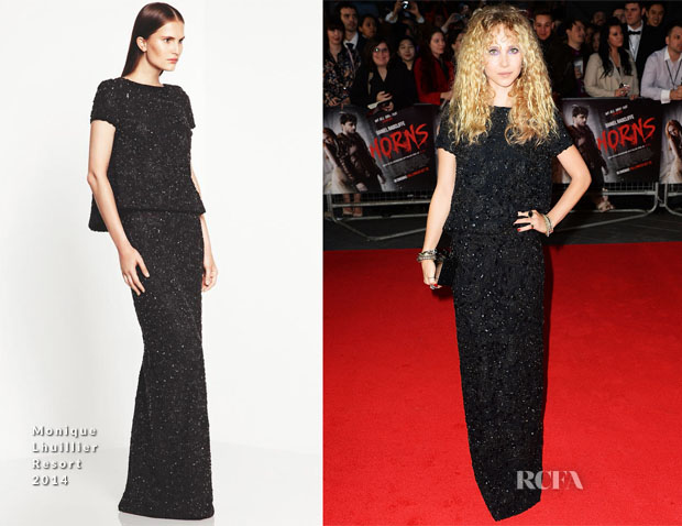 Juno Temple In Monique Lhuillier - 'Horns' London Premiere