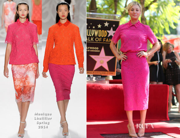 Kaley Cuoco In Monique Lhuillier - The Hollywood Walk Of Fame Unveiling