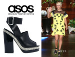 Kaley Cuoco's ASOS Leather Heeled Sandals