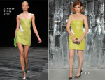 Kate Mara In J. Mendel - Jimmy Choo New Bond Street Townhouse & Vices Launch Party