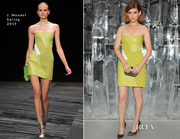 Kate Mara In J Mendel - Jimmy Choo New Bond Street Townhouse & Vices Launch Party
