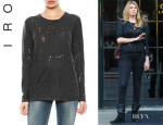 Kate Upton's Iro Marvina Long Sleeve Destroyed T Shirt