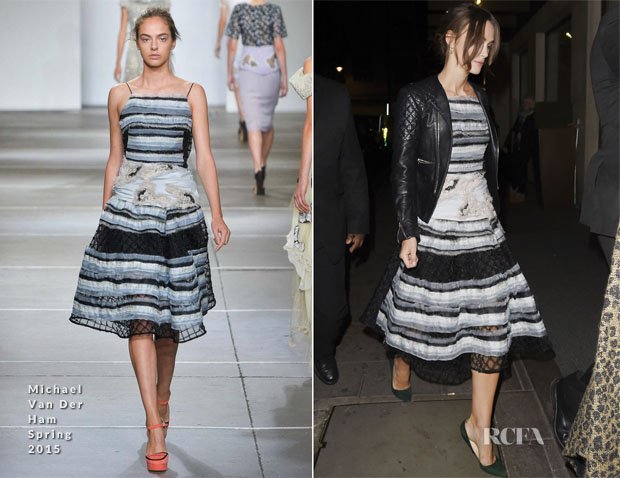 Keira Knightley In Michael Van Der Ham - May Fair Hotel