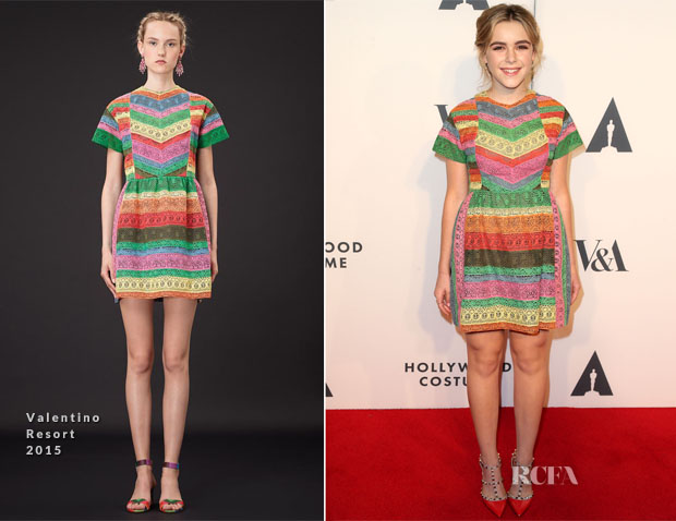 Kiernan Shipka In Valentino - The Academy of Motion Picture Arts and Sciences' Hollywood Costume Opening Party