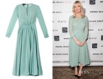 Kirsten Dunst's Burberry Prosum Pleated Silk-Georgette Dress