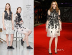 Laura Carmichael In Erdem - 'Madame Bovary' London Film Festival Screening