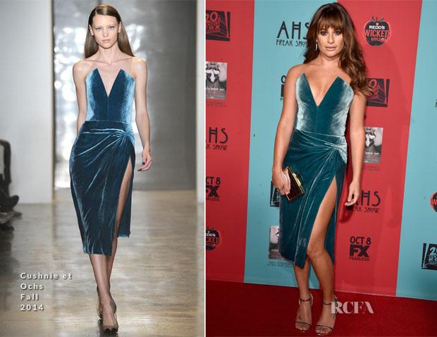 Lea Michele In Cushnie et Ochs - American Horror Story Freak Show' LA Premiere