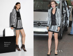 Lily Collins In Balmain - 'Lorraine'