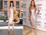 Lindsay Lohan In Givenchy - 'Speed The Plow' Press Night After-Party