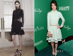 Lizzy Caplan In Elie Saab - 2014 Variety Power of Women Event