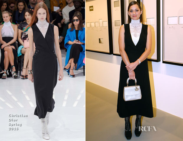 Marion Cotillard In Christian Dior - Fondation Louis Vuitton Opening
