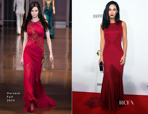 Megan Fox In Versace - Ferrari's 60th Anniversary In The USA Gala