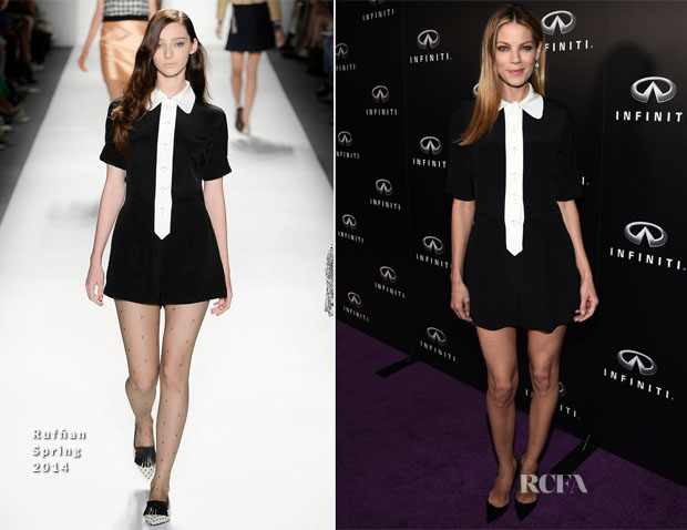 Michelle Monaghan In Ruffian - Infiniti of Beverly Hills Grand Opening