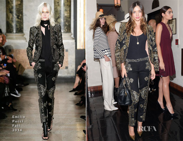 Miranda Kerr In Emilio Pucci - 2014 CFDA/Vogue Fashion Fund Event