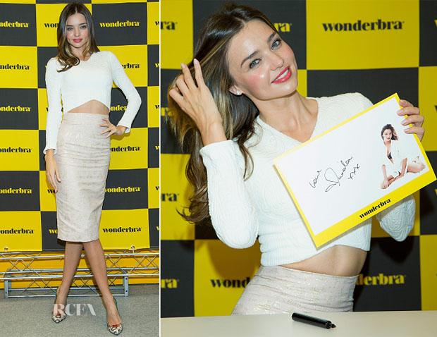 da6d638189280 Miranda Kerr In Nicholas   Emma Cook – Wonderbra Autograph Session
