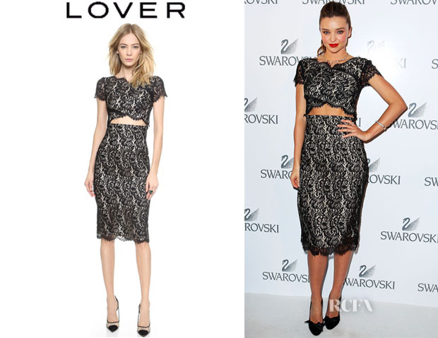Miranda Kerr's Lover 'Vee Vee' Splice Dress