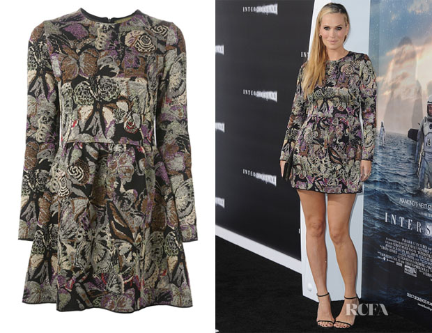 Molly Sims' Valentino Butterfly Jacquard Dress