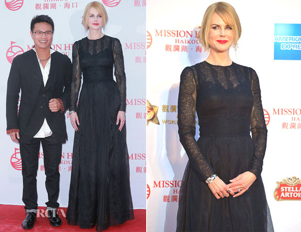 Nicole Kidman In Dolce & Gabbana - Mission Hills World Celebrity Pro-Am Opening Ceremony