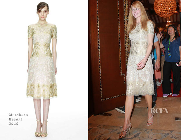 Nicole Kidman In Marchesa - Mission Hills World Celebrity Pro-Am Press Conference