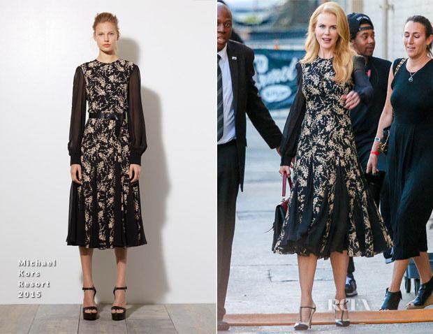 Nicole Kidman In Michael Kors - Jimmy Kimmel Live