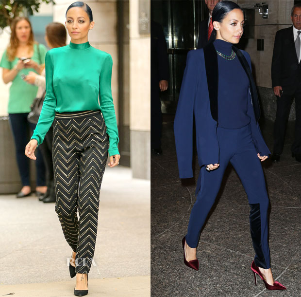 Nicole Richie In Blumarine & SAFiYAA - 'Candidly Nicole' New York Promo Tour