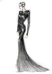 Nieves Alvarez' Roberto Cavalli Couture Sketch