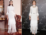 Olivia Palermo In Alessandra Rich - CR Fashion Book Issue N5 Launch Party