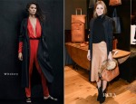 Olivia Palermo In Witchery - Ghurka Woman Handbag Launch