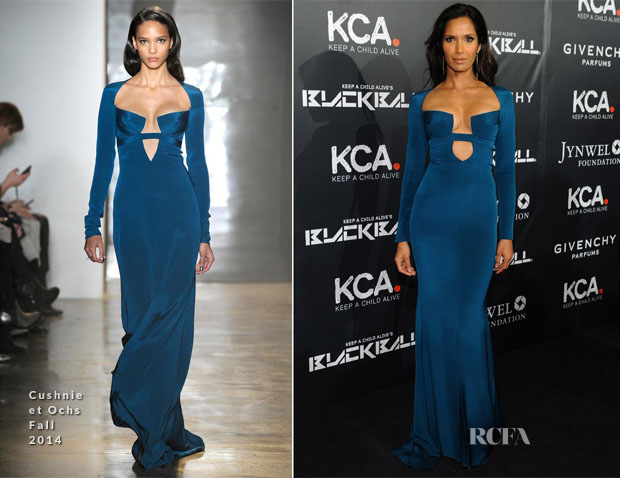 Padma Lakshmi In Cushnie et Ochs - 11th Annual Keep A Child Alive Black Ball