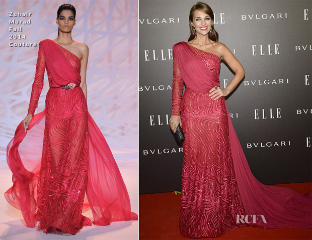 Paula Echevarria In Zuhair Murad Couture - Elle Style Awards 2014