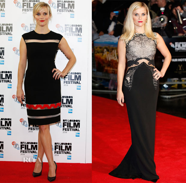 Reese Witherspoon In Giambattista Valli & Stella McCartney - 'Wild' London Film Festival Photocall & Premiere