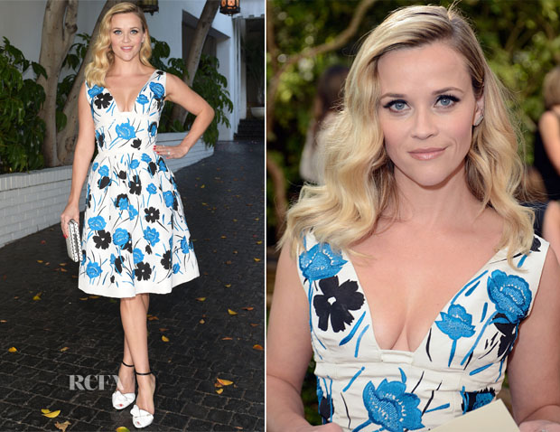 Reese Witherspoon In Oscar de la Renta - 2014 CFDA Vogue Fashion Fund Event