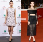 Rooney Mara In Balenciaga - 'Trash' Rome Film Festival Photocall & Premiere