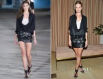 Rosie Huntington-Whiteley In Anthony Vaccarello - FORWARD By Elyse Walker & Anthony Vaccarello Dinner