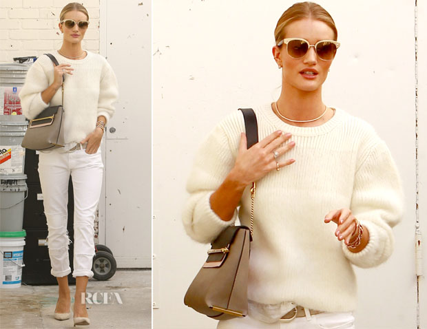 Rosie Huntington-Whiteley In Chloé - Out In Beverly Hills